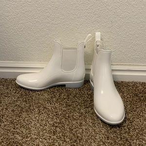 Sam Edelman Tinsley White Rain Boots Size 7